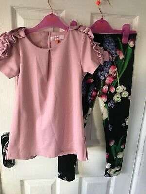 Girls Ted baker Set 2 piece age 6-7 years