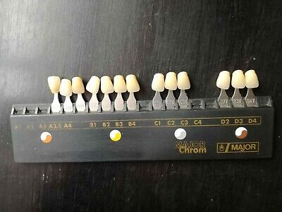 Major Chrom Shade Guide Tooth Set A1-D4 Shades Dental Lab Implant Color