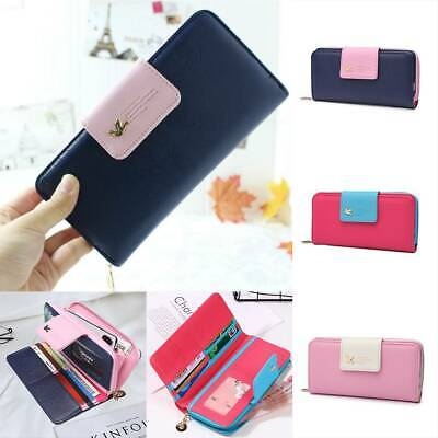 Fashion Women Bifold Purse Leather Long Wallet Clutch Lady Handbag Card Holder