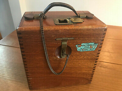Toulet Automatic Timing Clock Vintage In Wooden Box Great Cond. Pigeon Racing