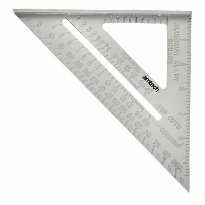 """150mm (6"""") Aluminium Speed Square Roofing Triangle Rafter Angle Measure Guide"""