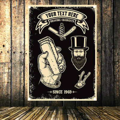 SHAVING HAIRCUTS Retro Poster Flag Banner Tapestry Wall Mount Barber Shop Decor