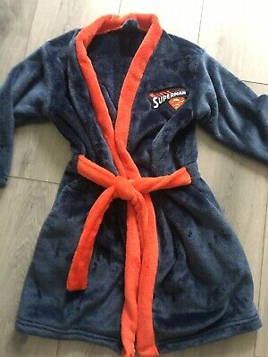 Marks And Spencers Superman Dressing Gown Age 5-6