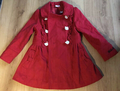 Hello Kitty Red Christmas Girls  Coat Size 3 - 4 Years