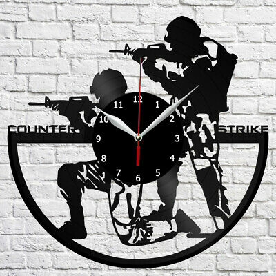 Counter-Strike Vinyl Record Wall Clock Home Fan Art Deco 12'' 3 cm 4348