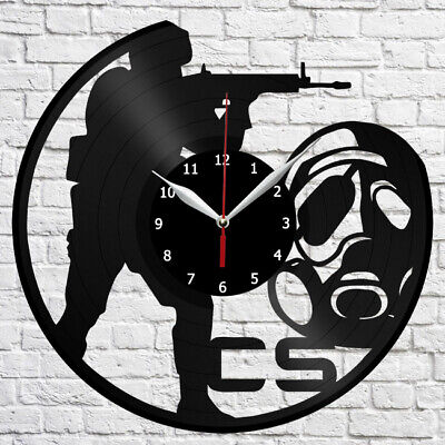 Counter-Strike Vinyl Record Wall Clock Home Fan Art Deco 12'' 3 cm 4349