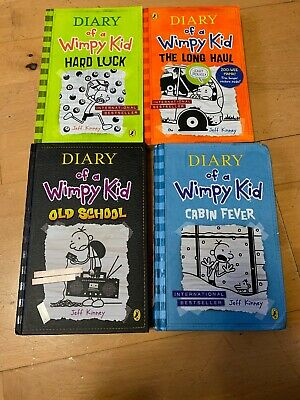 Diary of a Wimpy Kid - 4 Books by Jeff Kinney (2 Hardback ) (2 Papers Back)
