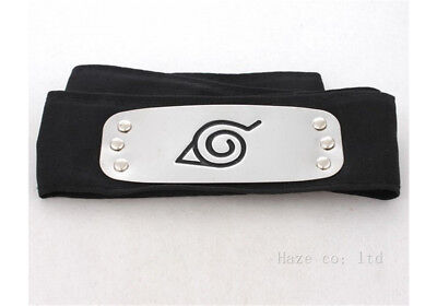 Naruto Shippuden Hidden Leaf Village Black Ninja Cosplay headband