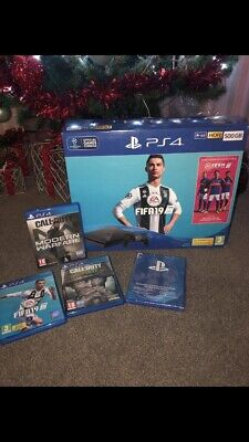 Sony PlayStation 4 500GB FIFA19 Console Bundle - Jet Black + PS4 Game Download