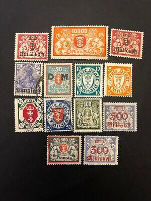 Danzig M/U German Europe Stamps- Lot A-65426