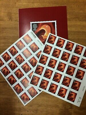 x 50 1st FIRST CLASS STAMPS AND ROYAL MAIL CHRISTMAS CARD