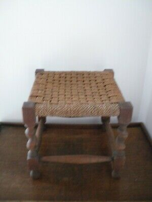 Antique Foot Stool With Barley Twist Legs
