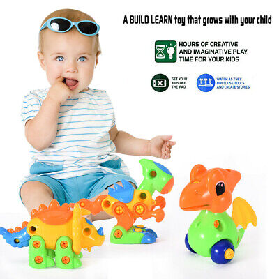 Construction Learning Dinosaur Animals Tools Toy Set Take Apart Toys Tool BL3