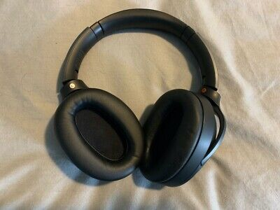 Sony WH-1000XM2 Over-Ear Wireless Noise-Cancelling Headphones - Black, with case