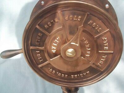 vintage nautical all brass engine telegraph 41 tall weight 58 lb.year 40s or 50s