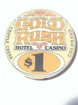 Gold Rush Casino Cripple Creek, Colorado $1.00 Chip Great For Collection Rare!