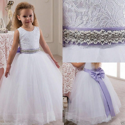 New Flower Girl Dress Bridesmaid Wedding Communion Party Prom Princess Pageant