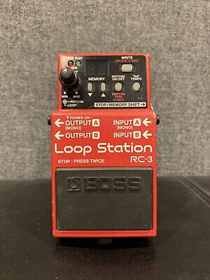 Boss RC-3 Loop Station Looper Sampler Effects Pedal Phrase Sampler Free USA Ship