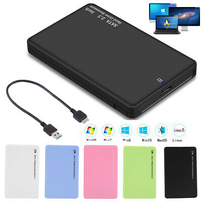"""2.5"""" 5Gbps Hard Disk Case Enclosure SATA to USB3.0 External SSD Box Adapter"""