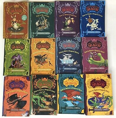 How To Train Your Dragon Books Complete Series Set of 12 Books Cressida Cowell