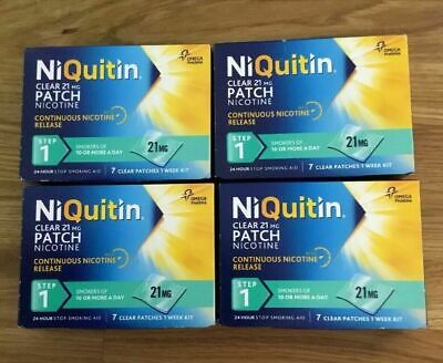 NIQUITIN CLEAR 21mg Patch - Step 1 X 28 Patches