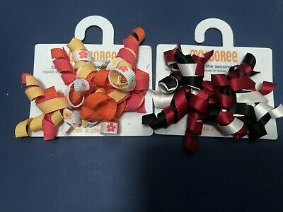 GYMBOREE PRETTY POSIES MULTI COLOR CURLIES HAIR BARRETTES 2-ct NWT