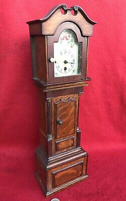 Antique Original Apprentice Piece Grandfather Long Case Clock 41cm miniature