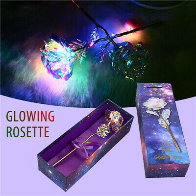 24K Gold Plated Galaxy Rose Valentine's Day Gift to Girlfriend Wife Love Present