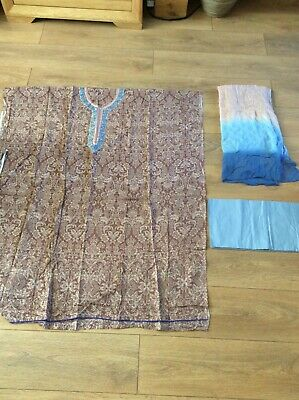 unstitched pakistani salwar kameez, asian suit, 3 piece cotton