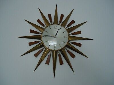 Vintage Retro Starburst Sunburst Metamec Wall Clock