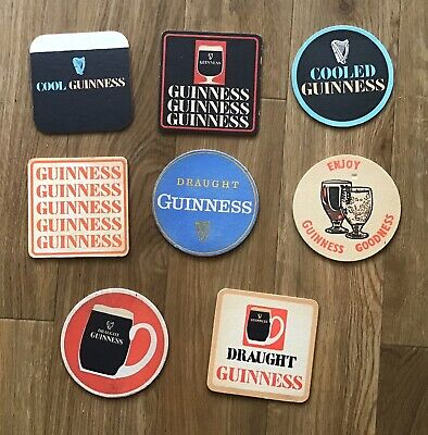 A Collection of Eight Vintage Beer Mats - Guinness