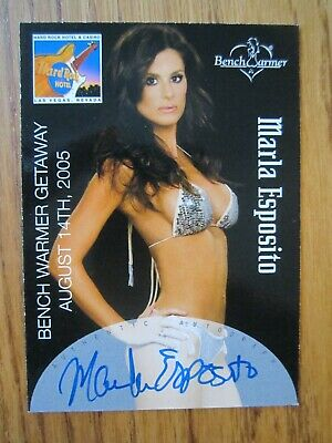 Benchwarmer 2005 Marla Esposito Authentic Autograph card Mint