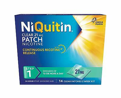NiQuitin Clear 24 Hour 14 Patches Step 1, 21 mg, 2 Week Kit