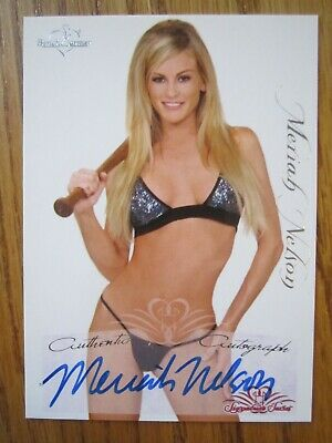 Benchwarmer 2005 Signature series MARIA NELSON Authentic Autograph card Mint
