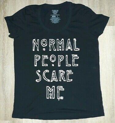 "T-Shirt American Horror Story ""Normal People Scare Me"" T-Shirt Black (B)"