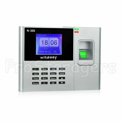 Employee Clocking in Machine with Fingerprint Recognition USB - Excel Download