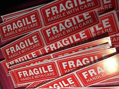 """30 FRAGILE STICKER 1"""" x 3"""" FRAGILE HANDLE WITH CARE Stickers   USPS"""