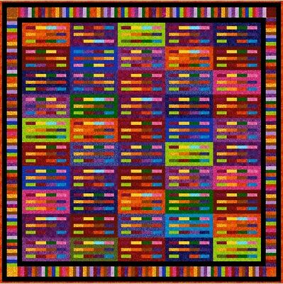 """SIMON SAYS - 83"""" - Pre-cut Quilt Kit by Quilt-Addicts Double size"""