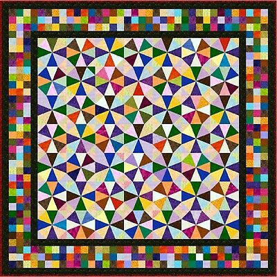 """IRONICAL - 77"""" - Pre-cut Patchwork Quilt Kit by Quilt-Addicts Double"""