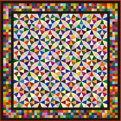 """IRONICAL - 93"""" - Pre-cut Patchwork Quilt Kit by Quilt-Addicts Queen"""