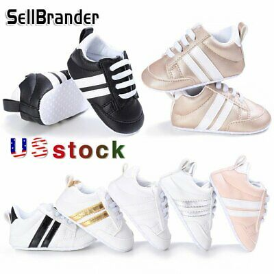 US Girl's Boy's Baby Walking Trainers Toddler Casual Sports Kids Sneakers Shoes