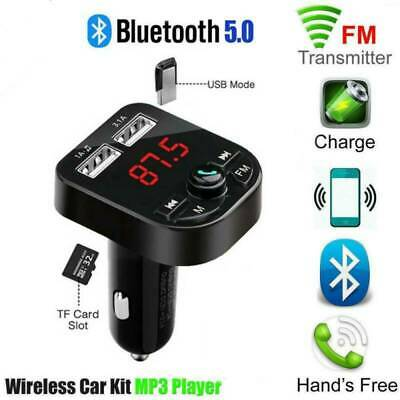 Wireless Bluetooth V5.0 FM Transmitter Radio Car MP3 Player Charger USB Adapter