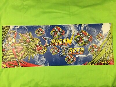 "Orig. Arcade Marquee & Side Art (Dragon Breed) (1989) 24"" x 9"" & 15.5"" x 25.75"""