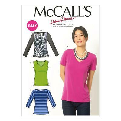 NEW McCall's Pattern M6964 Misses' Tops By Spotlight