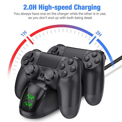 Ps4 Dual Controller Fast Charger Charging Dock Station