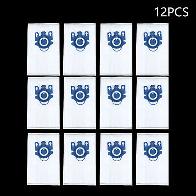 12x Vacuum Cleaner Dust Bags Set For Miele 3D GN Classic C2/3 S2/5/8 S5210 S5211