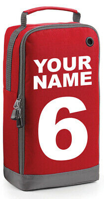 Prospo Children's Personalised Football Rugby Name & Number Sports Boot Bag Kit