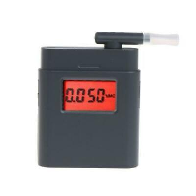 Digital LCD Breathalyzer Breath Alcohol Tester Red Backlight with 5 Mouthpieces