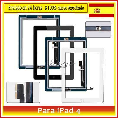 Pantalla Tactil para iPad 4 Touch Screen Digitalizador +Botón Negro /Blanco
