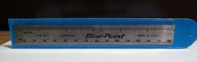 "Blue Point Rule 6"" Ss Machinist W/Case Gam-2A Decimal Equivalents Snap On"